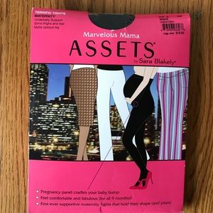 NWT Black Assets maternity tights size 3
